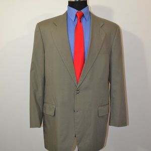 Jos A Bank 43L Sport Coat Blazer Suit Jacket Gray
